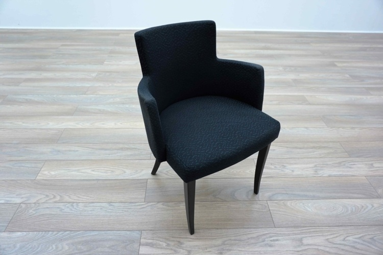 Black Patterned Office Reception Tub / Meeting Chairs