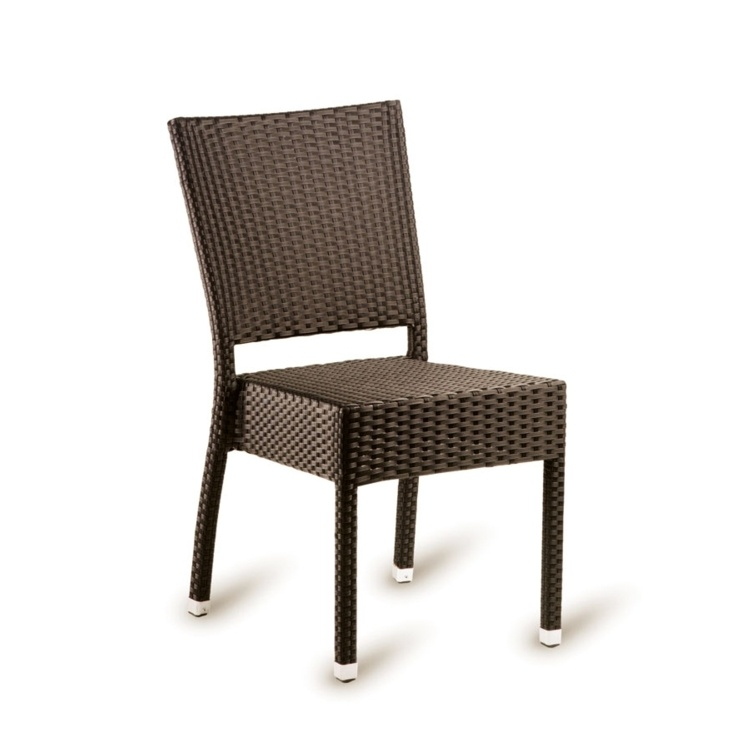 New Brown Mocca Wicker Solana Weave Rattan Style Office Garden Canteen Cafe Bistro Chairs