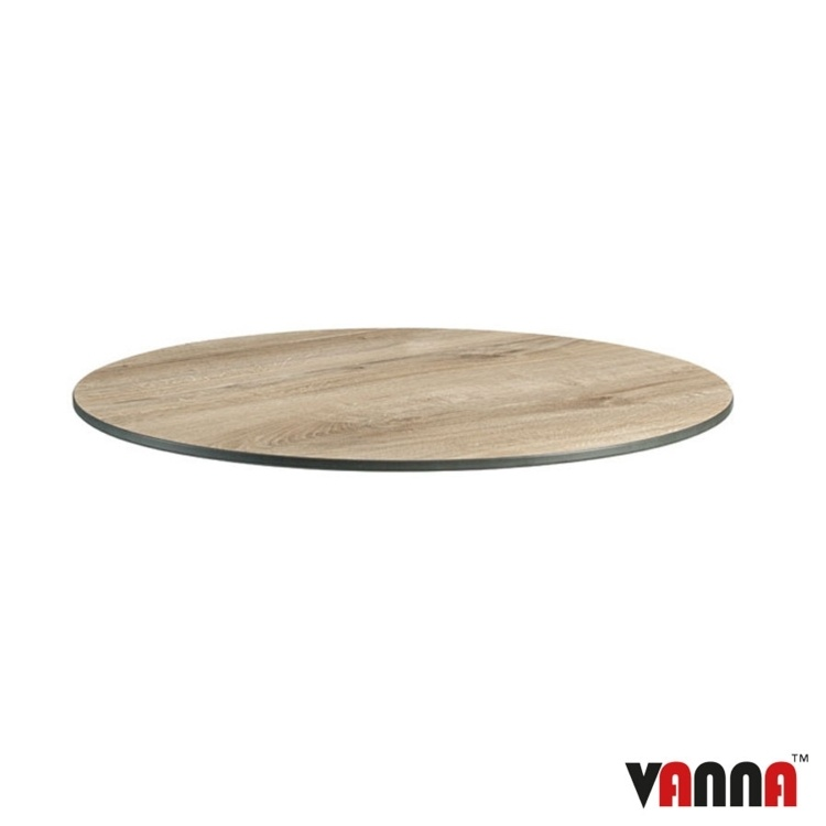 New EXTREMA Aged Wood 690mm Dia Round Table