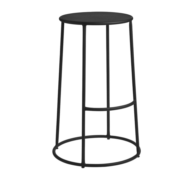Brilliant New Max 75 Black Industrial Designer Canteen Cafe High Stool Inzonedesignstudio Interior Chair Design Inzonedesignstudiocom