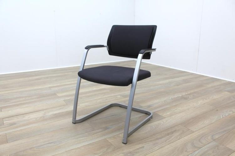 Brunner Dark Grey Checkered Fabric Office Meeting Chairs