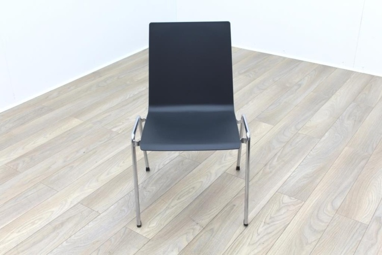 Brunner Dark Grey Chrome Frame Meeting Chair