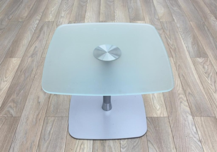 Frosted Glass Square Coffee Table 650mm