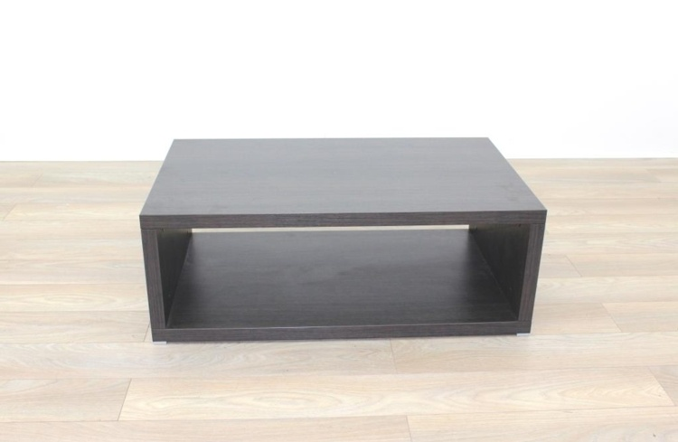 Executive Walnut Rectangular Coffee Table