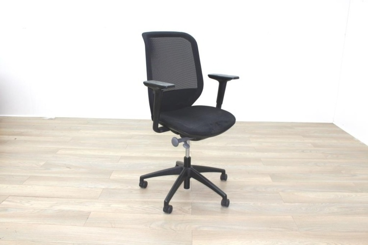 Orangebox Joy-12 Black Mesh / Fabric Office Task Chairs