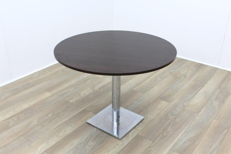 Dark Walnut Round Table 1000mm