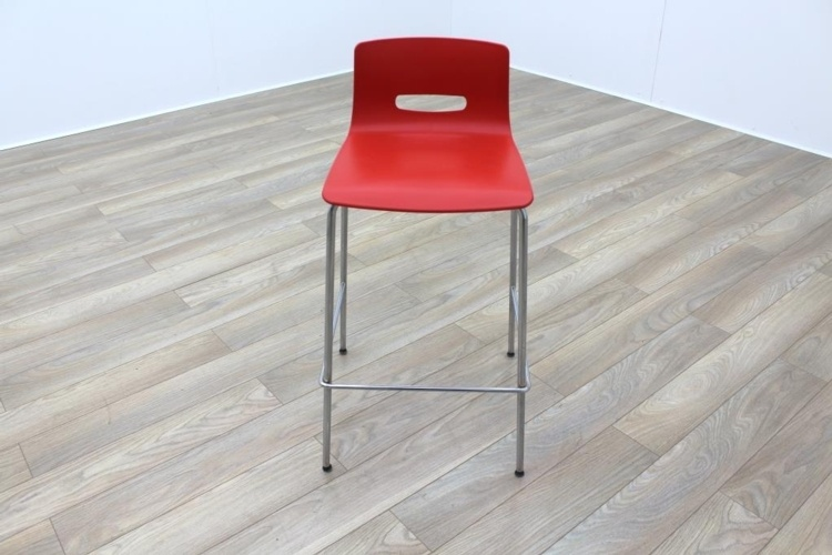 Allermuir CS585 Red Office Canteen Bar Stools