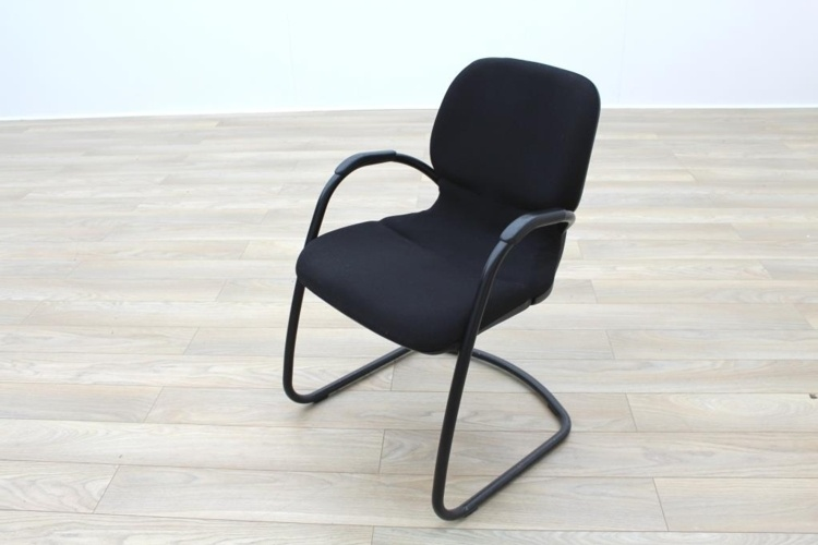 Steelcase Strafor Black Fabric Office Meeting Chairs