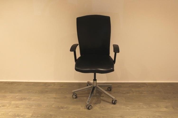 Black Leather Operator Chair