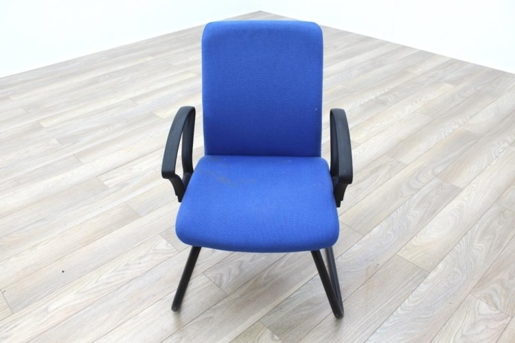 Blue Fabric Cantilever Office Meeting Chair