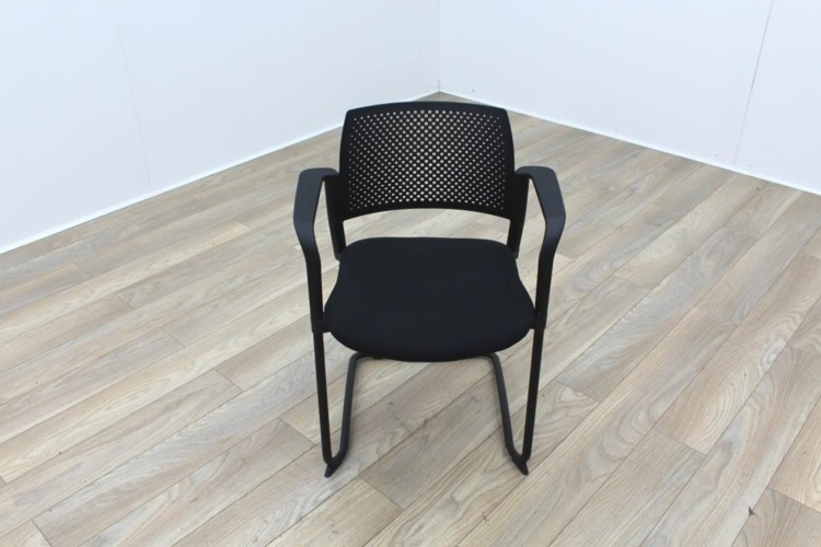 Torasen Polymer Back Black Fabric Seat