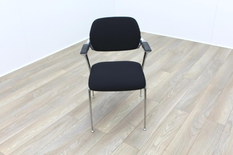 Brunner Black Fabric Meeting Chair