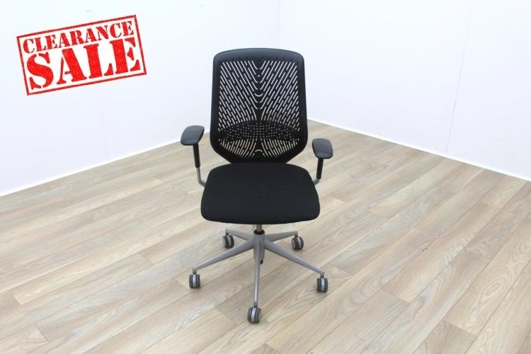 Actiu TNK Black Fabric Seat / Aero Back Office Task Chairs