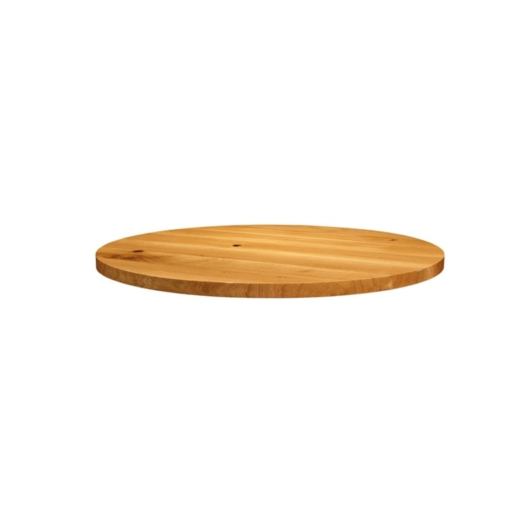New Natural Laquered Character Superior Grade Oak 900mm Round Table Top