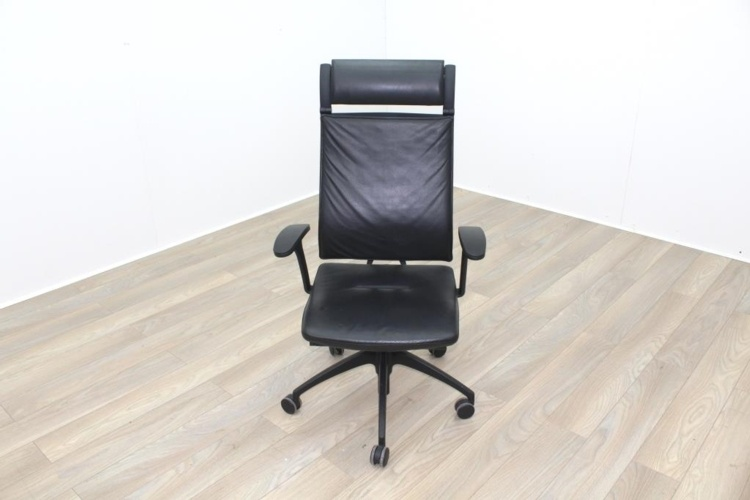 Sedus UP 103 Black Leather Operator Chair