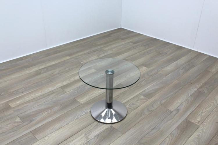 Pedrali Italian Glass Circular Office Coffee Table