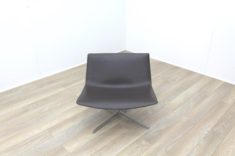 Arper Catifa 80 4 Ways Brown Leather Office Reception Chair