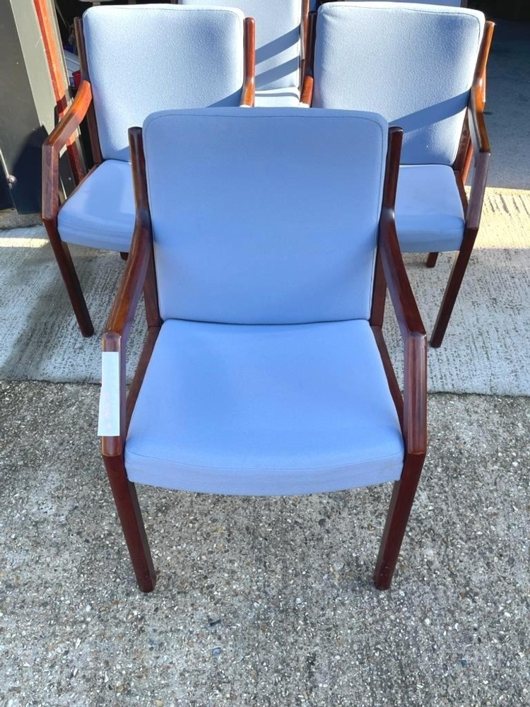 Blue Wooden Meeting Chairs