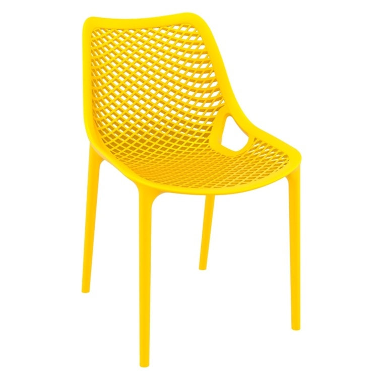 New Yellow Reinforced Polypropylene & Glass Fibre Stacking Office Canteen Cafe Bistro Chairs