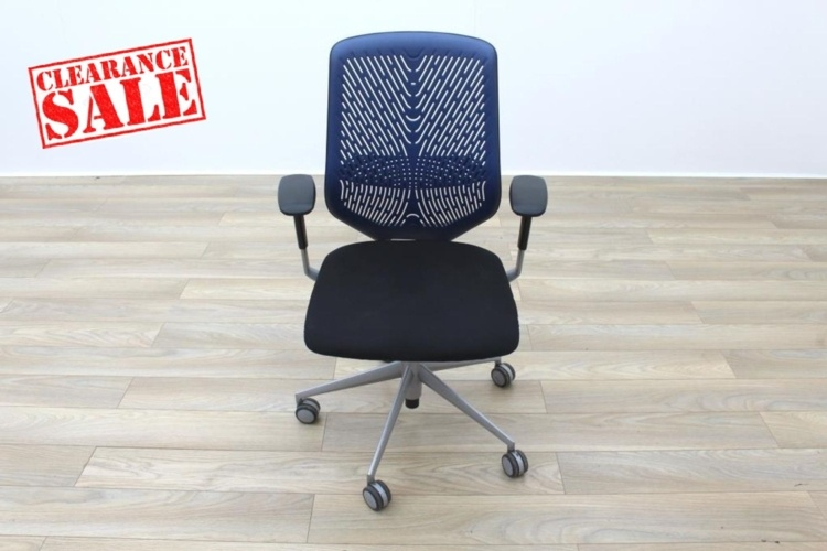 Actiu TNK Black Fabric Seat / Blue Aero Back Office Task Chairs