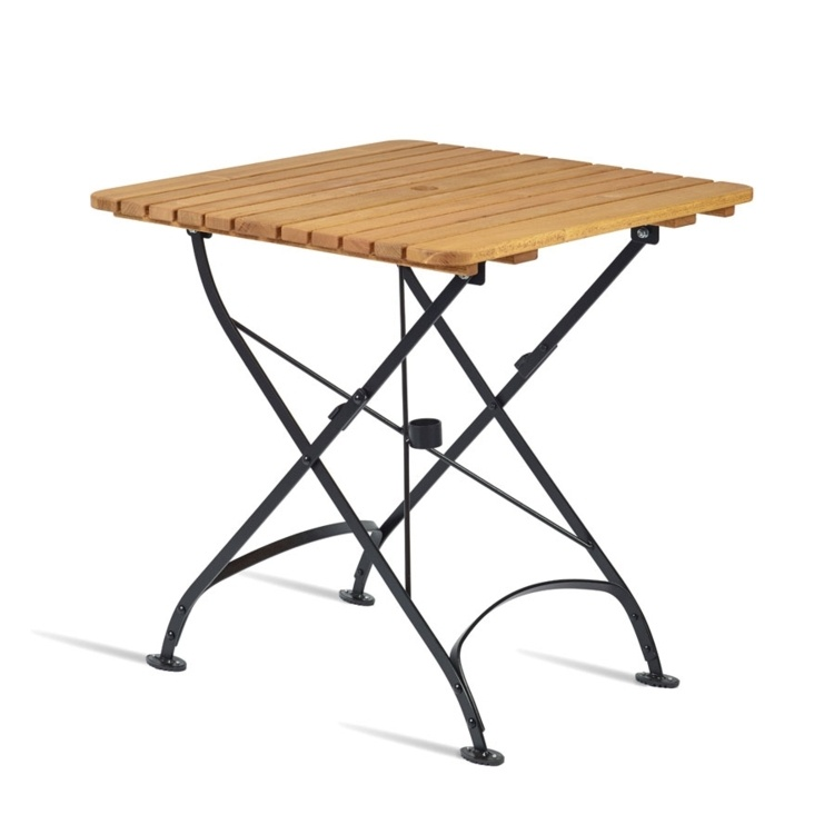 New ARCH Wrought Iron Cafe Bistro Folding Square Table