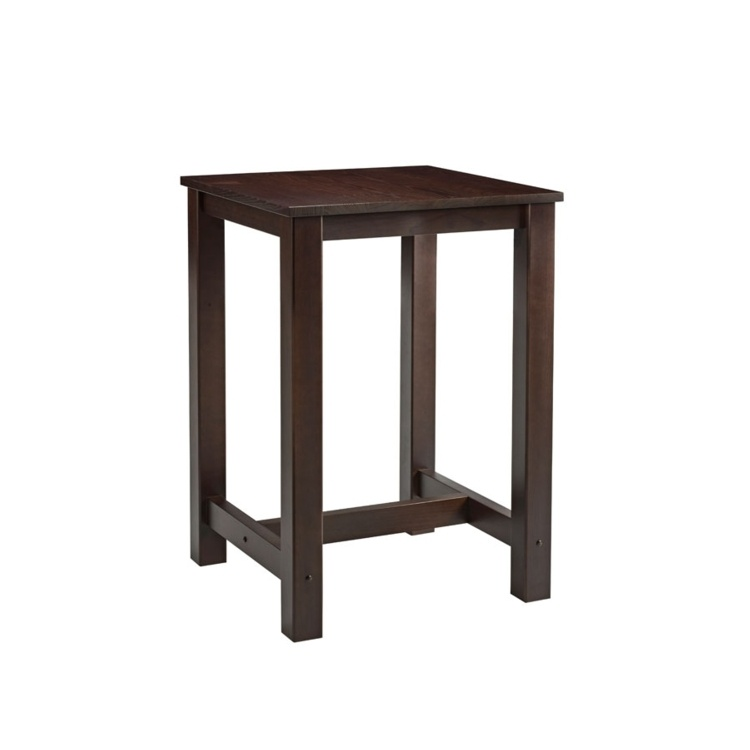 New MIST Dark Walnut Stained Solid Beech and Ash Square Bar Table