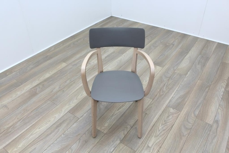 Brunner Maple Frame Grey Seat with Armrests