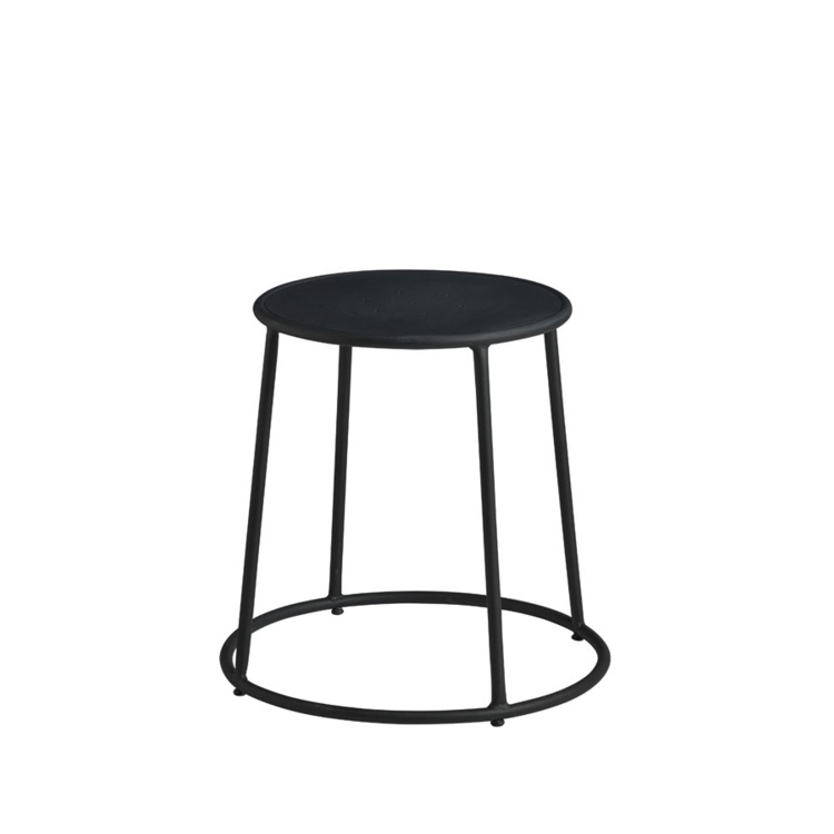 New MAX 45 Black Industrial Designer canteen café Low Stool