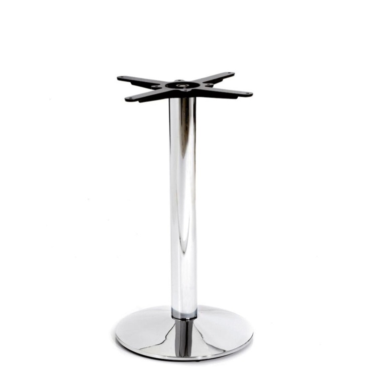 New HAMPTON Chrome Small Round Dining Table Base