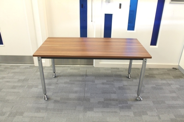 Walnut Straight Folding Office Meeting / Training Tables
