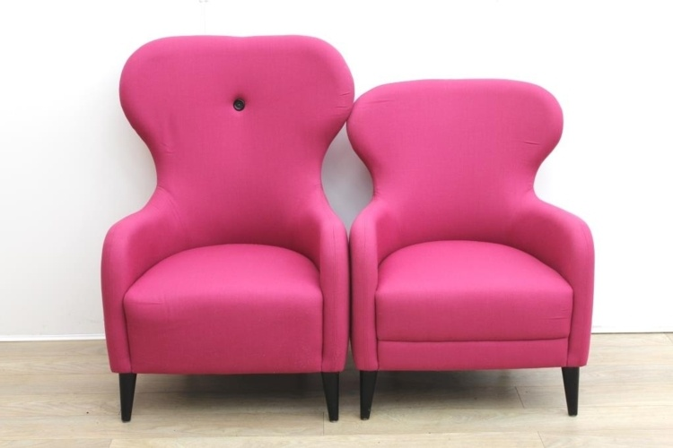 Pink reception chairs