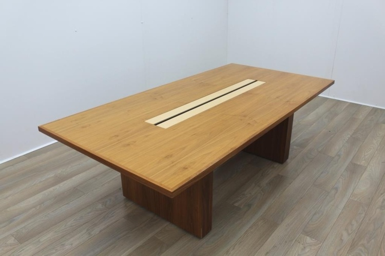 Sven Christiansen Walnut / Bird's Eye Maple Office Meeting Table