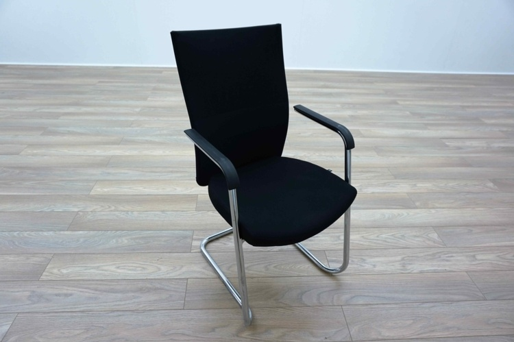 Task Black Mesh / Fabric High Back Office Meeting Chairs
