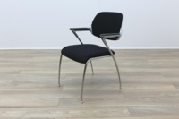 Brunner Black Fabric Meeting Chair - Thumb 3