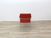 Orange Meeting Chairs With Chrome Frame - Thumb 6