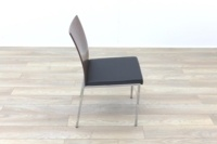 Brunner Walnut Back Black Leather Seat - Thumb 6