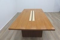 Sven Christiansen 2400mm Solid Walnut / Maple Executive Office Meeting Table - Thumb 5