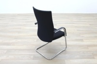 Black Fabric High Back Cantilever Office Meeting Chairs - Thumb 7