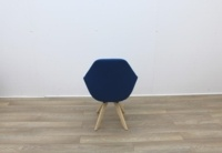 Blue Fabric Reception Chair - Thumb 5
