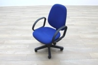 Blue Fabric Adjustable Operator Chairs - Thumb 3