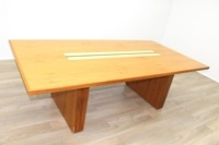 Sven Christiansen Walnut / Bird's Eye Maple Office Meeting Table - Thumb 6