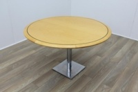 Golden Maple Round Meeting Table 1200mm - Thumb 2