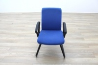 Blue Fabric Cantilever Office Meeting Chair - Thumb 4