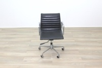 Eames Style Black Ribbed Office Task Chair - Thumb 5