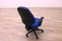 Blue Fabric Multifunction Office Task Chairs - Thumb 6