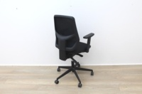 Black Operator Chair With Mesh Back And Lumbar Support - Thumb 5