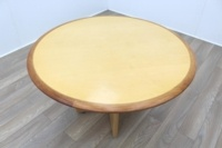 Maple round table with walnut inlay - Thumb 3