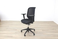 Orangebox Joy-12 Black Mesh / Fabric Office Task Chairs - Thumb 4