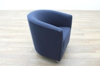 Dark Blue Fabric Office Reception Tub Chairs - Thumb 5