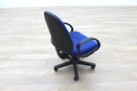 Blue Fabric Adjustable Operator Chairs - Thumb 5
